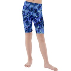 Pattern Factory 23 Blue Kids  Mid Length Swim Shorts