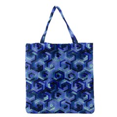 Pattern Factory 23 Blue Grocery Tote Bag