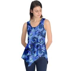 Pattern Factory 23 Blue Sleeveless Tunic
