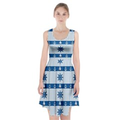 Sea pattern Racerback Midi Dress