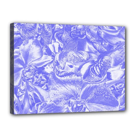 Shimmering Floral Damask,blue Canvas 16  x 12