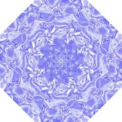 Shimmering Floral Damask,blue Folding Umbrellas