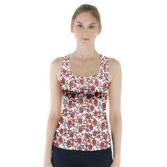 Roses pattern Racer Back Sports Top