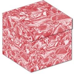 Shimmering Floral Damask Pink Storage Stool 12
