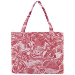 Shimmering Floral Damask Pink Mini Tote Bag