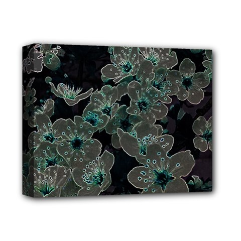 Glowing Flowers In The Dark C Deluxe Canvas 14  x 11