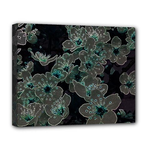 Glowing Flowers In The Dark C Deluxe Canvas 20  x 16
