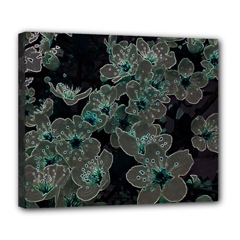 Glowing Flowers In The Dark C Deluxe Canvas 24  x 20