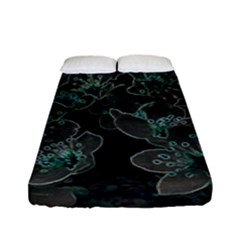 Glowing Flowers In The Dark C Fitted Sheet (Full/ Double Size)