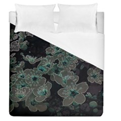 Glowing Flowers In The Dark C Duvet Cover (Queen Size)