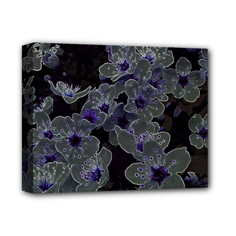 Glowing Flowers In The Dark B Deluxe Canvas 14  x 11
