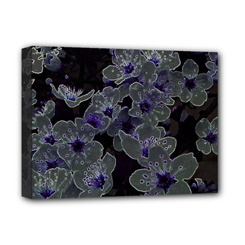 Glowing Flowers In The Dark B Deluxe Canvas 16  x 12