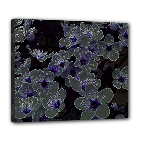 Glowing Flowers In The Dark B Deluxe Canvas 24  x 20