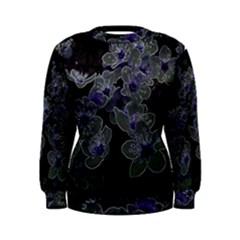 Glowing Flowers In The Dark B Women s Sweatshirt