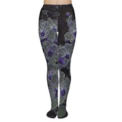 Glowing Flowers In The Dark B Women s Tights