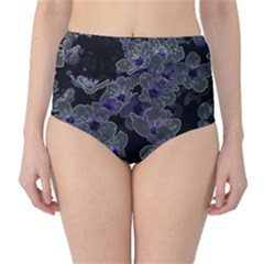Glowing Flowers In The Dark B High-Waist Bikini Bottoms