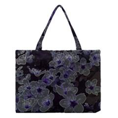 Glowing Flowers In The Dark B Medium Tote Bag