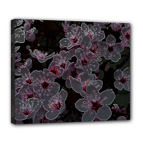 Glowing Flowers In The Dark A Deluxe Canvas 24  x 20
