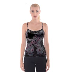 Glowing Flowers In The Dark A Spaghetti Strap Top