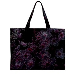 Glowing Flowers In The Dark A Zipper Mini Tote Bag