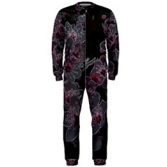 Glowing Flowers In The Dark A OnePiece Jumpsuit (Men)
