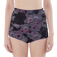 Glowing Flowers In The Dark A High-Waisted Bikini Bottoms