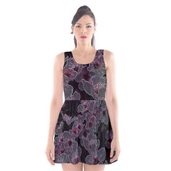 Glowing Flowers In The Dark A Scoop Neck Skater Dress