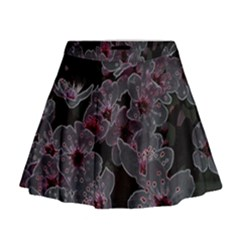 Glowing Flowers In The Dark A Mini Flare Skirt
