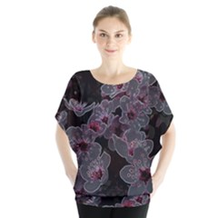 Glowing Flowers In The Dark A Blouse