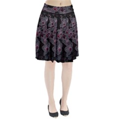 Glowing Flowers In The Dark A Pleated Skirt