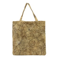 Cracked Skull Bone Surface A Grocery Tote Bag
