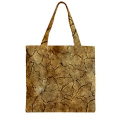 Cracked Skull Bone Surface A Zipper Grocery Tote Bag