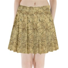 Cracked Skull Bone Surface A Pleated Mini Skirt
