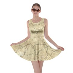 Cracked Skull Bone Surface B Skater Dress