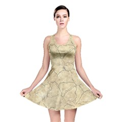 Cracked Skull Bone Surface B Reversible Skater Dress