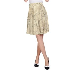 Cracked Skull Bone Surface B A-Line Skirt