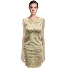 Cracked Skull Bone Surface B Classic Sleeveless Midi Dress
