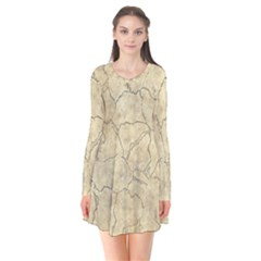 Cracked Skull Bone Surface B Flare Dress