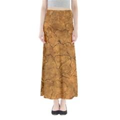 Cracked Skull Bone Surface C Maxi Skirts
