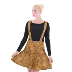 Cracked Skull Bone Surface C Suspender Skater Skirt