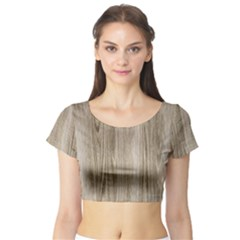 Wooden Structure 3 Short Sleeve Crop Top (Tight Fit)