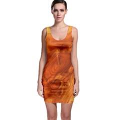 Fantastic Wood Grain Sleeveless Bodycon Dress
