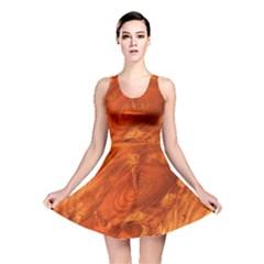 Fantastic Wood Grain Reversible Skater Dress