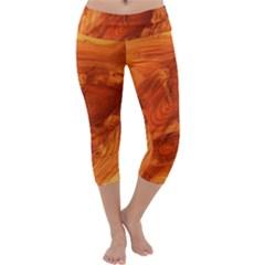 Fantastic Wood Grain Capri Yoga Leggings