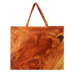 Fantastic Wood Grain Zipper Large Tote Bag