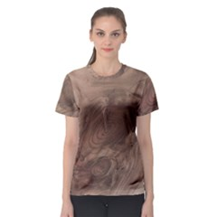 Fantastic Wood Grain Soft Women s Sport Mesh Tee