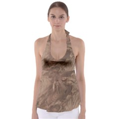 Fantastic Wood Grain Soft Babydoll Tankini Top