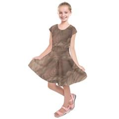 Fantastic Wood Grain Soft Kids  Short Sleeve Dress