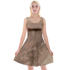 Fantastic Wood Grain Soft Reversible Velvet Sleeveless Dress