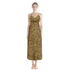 Sparkling Metal Art A Chiffon Maxi Dress